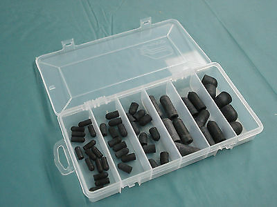 Vacuum line plug assortment - 6 sizes - rubber tubing caps