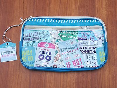 Waterproof Travel Document Holder Adventure Awaits Travel Wallet Money Passport
