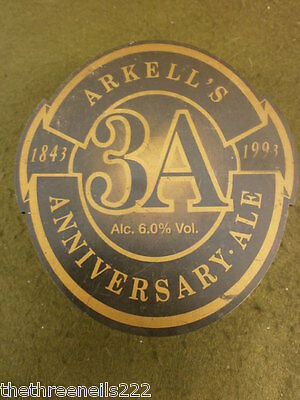 Cast Iron Beer Pump Clip - Arkell's 3A Anniversary - With Clamp Fitting