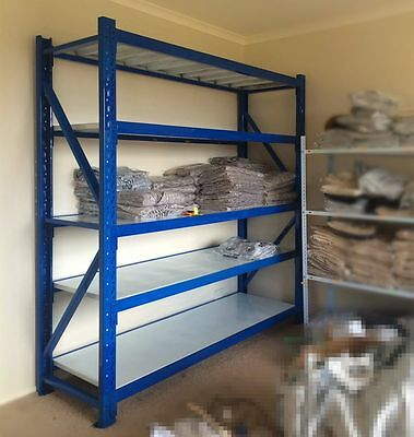 Garage Steel Storage Shelving Shelves Tyre Rack Stand Warehouse Shop Racking