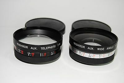 Yashikor Aux. Telephoto F4 Y906, Aux. Wide Angle F4 Y907  For Yashica Elect 35
