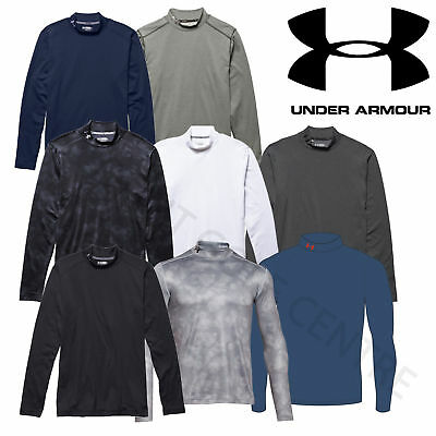 Under Armour Mens ColdGear Long Sleeve Mock Golf Base Layer Fitted - 1259431