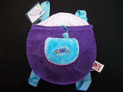 Purple & Turquoise Webkinz Plush Pet Carrier Knapsack, NEW WITH TAGS & CODE