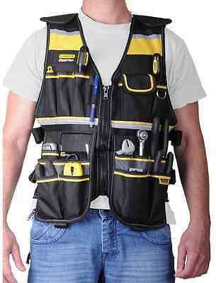 Tool Vest Storage Compartments Electrician Carpenter Plumber Construction Pouch