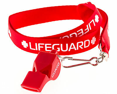 Lifeguard Whistle and Lanyard w/Print