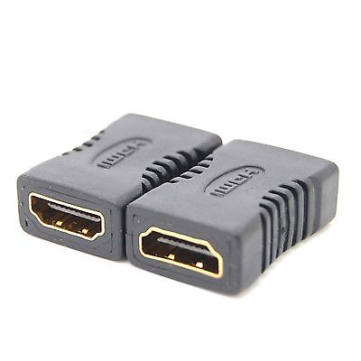2X HDMI To HDMI Joiner Connector Extender Female To Female Adapter Coupler_b