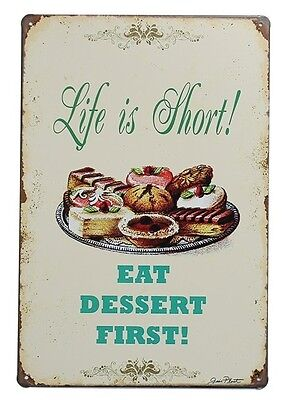Life Is Short Tin Sign Vintage Metal Plaque Poster Bar Pub Home Wall Decor