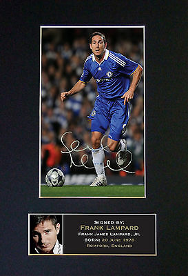 FRANK LAMPARD Chelsea Top Quality Autograph Signed Photo Print (A4) No38