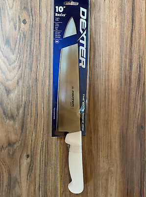 "Dexter Russell 10"" Cook's Kitchen Knife Stain Free High Carbon Steel. Fast Ship."