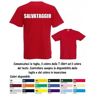 T-Shirt Bimbo Bimba Salvataggio Bagnino Valueweight Cotone Fruit of the Loom M5