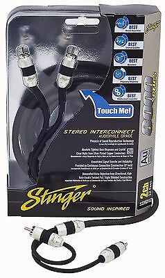 Brand New Stinger Audio RCA Interconnect Cable 8000 Series 2 Channel SI8212