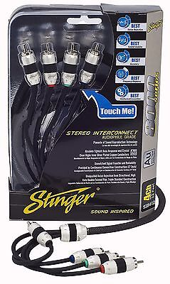 Brand New Stinger RCA Interconnect Cable 8000 Series 20 Feet 4-Channel SI8420