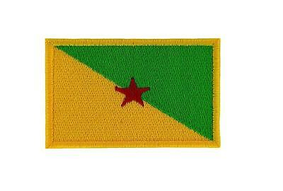 Patch ecusson brodé drapeau guyane thermocollant backpack motard biker