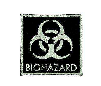 Patch ecusson brodé drapeau backpack Biohazard zombie danger nucleaire thermocol