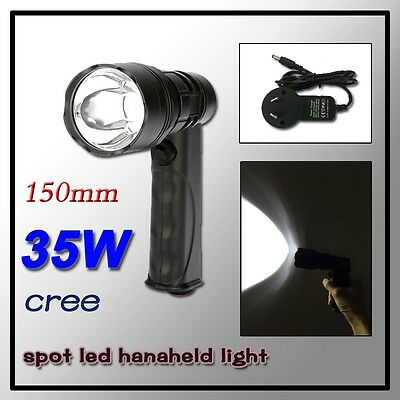 Rechargeable Cree LED 35W Sport Handheld Spotlight 150mm Hunting/Fishing/Camping