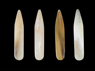 Collar Stay - Genuine White Cattle Horn - Size 58 x 10 x 1.5 mm (6 pcs)