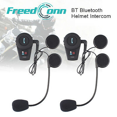 500M BT Motorcycle Helmet Bluetooth Interphone Headset Intercom Speaker Rider+FM