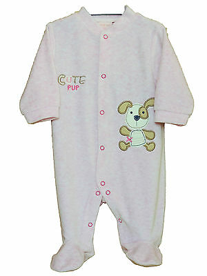 Baby Girls Cute Pup all-on-one/babygrow/playsuit size 3-6 months