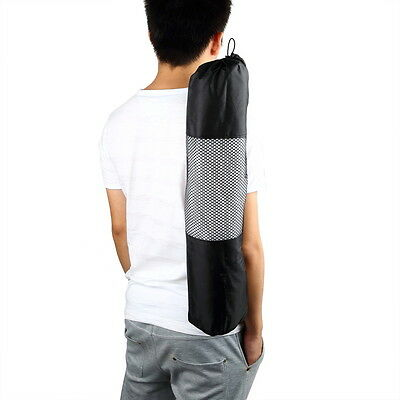 OE Portable Yoga Pilates Mat Nylon Bag Carrier Mesh Case Adjustable Strap