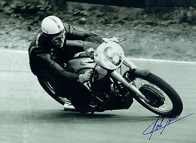 John SURTEES Autograph SIGNED Photo 16x12 Norton Motorbike Rider AFTAL COA