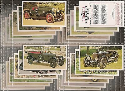 Players Doncella-Full Set- Golden Age Of Motoring - Motor Cars - Exc+++