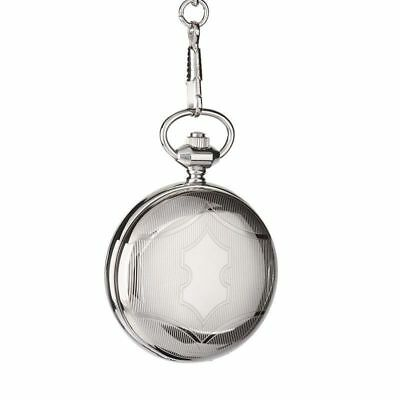 NEW MECHANICAL POCKET WATCH SILVER FOB Watch Timber Gift Box - FREE SHIPPING