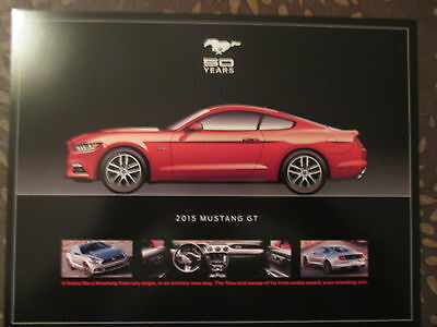 50 Year Ford Mustang 1964-2015 8 Piece Dealer ONLY Set Promo Brochure 8.5X11 new
