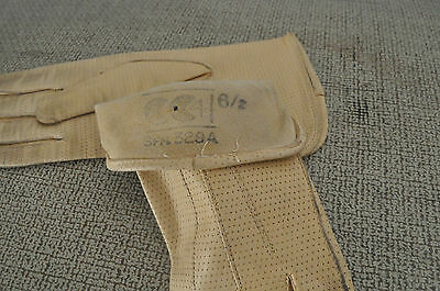 Vintage 1940's yellow leather gloves small size cc coupon ration