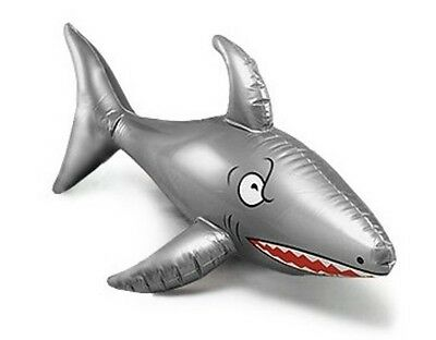 "INFLATABLE BLOW UP SHARK 90cm 36"" PIRATE BEACH POOL FANCY DRESS PARTY NEW"