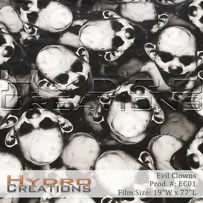 HYDROGRAPHIC FILM FOR Hydro Dipping Water Transfer Film Evil Clowns