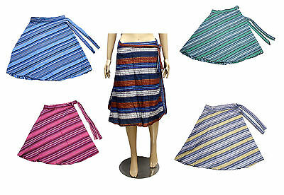 10pc Hippie Boho Gypsy Tribal Cotton Wrap Around Short Skirt Dress Wholesale Lot