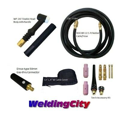 TIG Welding Torch 26F Package 200A 12' Flex Head Replacement for Lincoln PTA