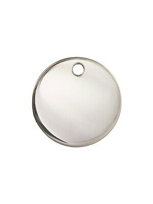 925 Solid Sterling Silver 17mm Round Disc Charm Pendent 1pc #5721-1