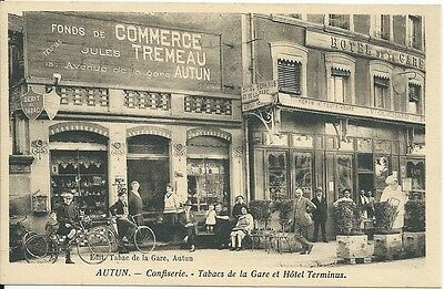 CPA -71 - AUTUN - Confectionery - Tobacconist's from station and Hotel Terminus