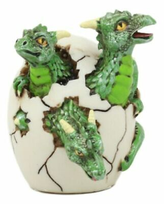 Three Headed Hydra Dragon Hatchling Collectible Figurine Statue Sculpture Figure