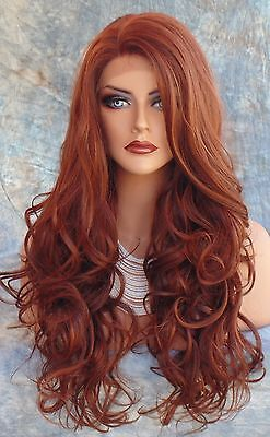 Lace Front Wig COLOR RED F33.130  LONG FLOWING SOFT WAVES SEXY  US SELLER *272