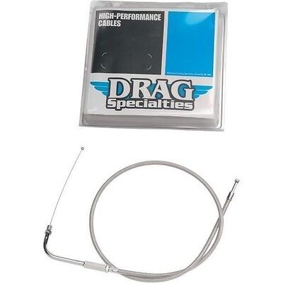 Alternative Length Braided Idle Cable 48in. Drag Specialties 5343204B