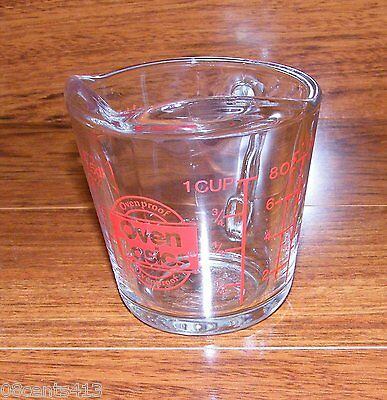 Oven Basics (496) Ovenproof 1 Cup Measuring Cup *Microwave Safe*