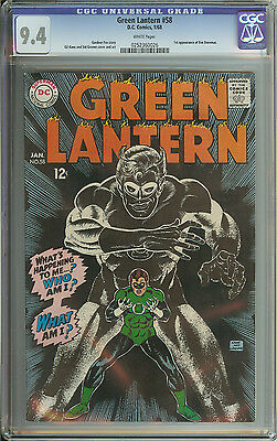 Green Lantern #58 Cgc 9.4 White Pages  // 1St Appearance Of Eve Doremus