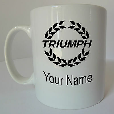 Personalised Triumph Logo Mug Cup Gift Present Birthday Christmas Fathers Day