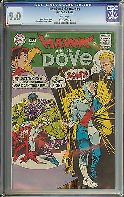 Hawk And The Dove #1 Cgc 9.0 White Pages  // Steve Ditko Cover & Art