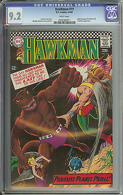 Hawkman #19 Cgc 9.2 White Pages  // Adam Strange Appearance