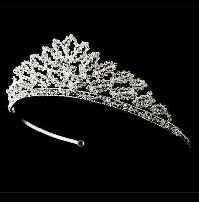 Shimmering Crystal Abstract Floral Style Wedding Bridal Barrette
