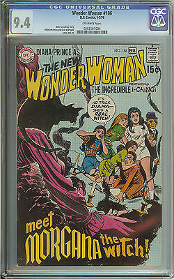 Wonder Woman #186 Cgc 9.4 Ow Pages // Mike Sekowsky & Dick Giordano Cover