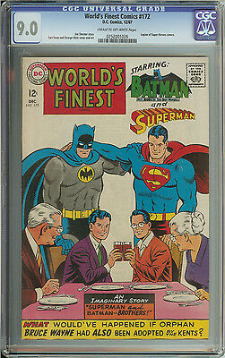 World's Finest #172 Cgc 9.0 Cr/ow Pages // Legion Of Super-Heroes Cameo