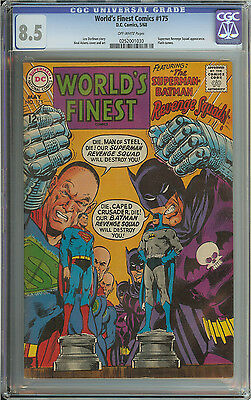 World's Finest #175 Cgc 8.5 Ow Pages // Neal Adams Cover/art