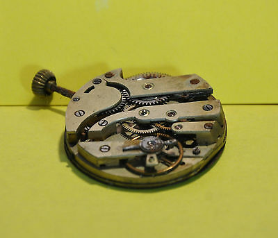 Vintage English? Pocket Watch Movement with Enameled Dial (0159)