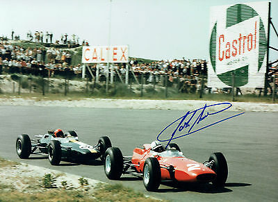 John SURTEES Autograph SIGNED Rare FERRARI Photo 16x12 AFTAL COA