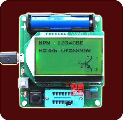 2015 newest MG328 ESR meter inductor capacitor multifunction Tester Diode Triode