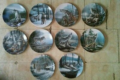 Complete set of 10 Kevin Daniel Call of the Wilderness Wolf Wolves Print Plates